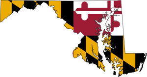 664px-Flag-map_of_Maryland